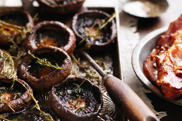 These thyme roasted mushrooms are perfect served with crispy bacon. <a ...