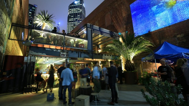 Green and glowing: Whitehart bar in the CBD.