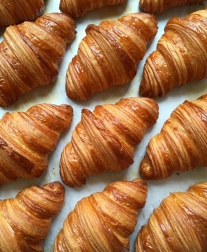 Start with a plain croissant, still warm from the oven.