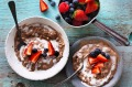 Rachel Khoo's coconut milk chocolate rice pudding.