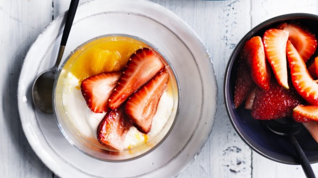 Orange and strawberry fool combines two winter's best fruits.