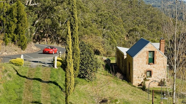 Basket Range winery region in Adelaide Hills.