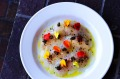 Blue-eye crudo with fried capers at Rare Hare.