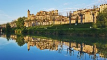 Auch, located along Gers River, is the historical capital of Gascony, France.