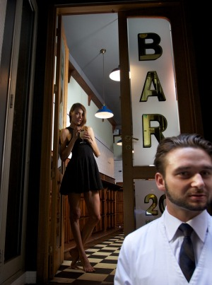 It's standing-room-only at Bar Americano in the CBD.