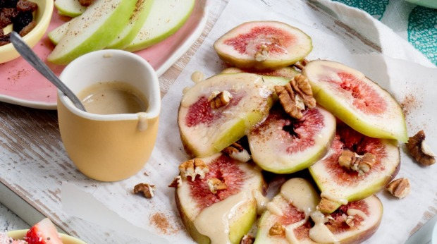 Pair sliced fruit with yoghurt or cottage cheese.