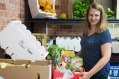 Turning the tables: Paula Zrilic has set up her own food bank.