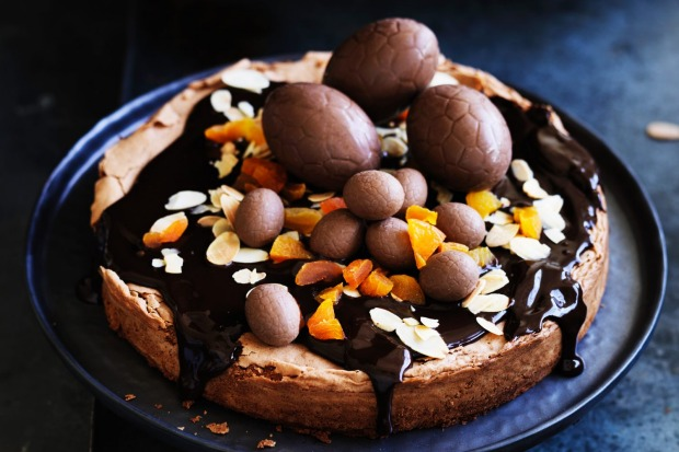 Adam Liaw's chocolate and almond Easter cake is a festive centrepiece <a ...