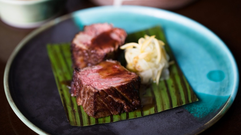 Savoury full point: Char-grilled beef short rib, glistening with fat and flavour.