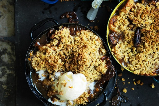 Neil Perry's Banana caramel crumble. <a ...