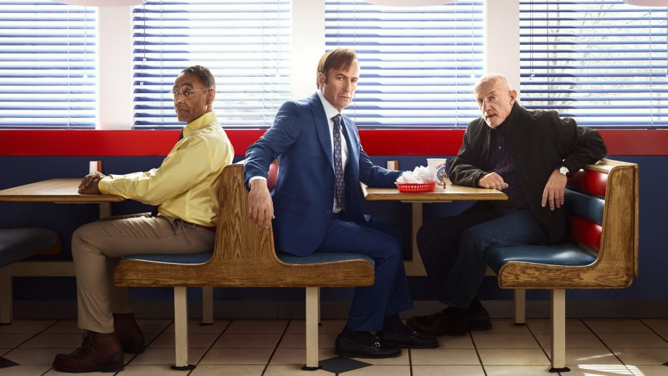Watch out Sydney (from left): Better Call Saul's Gus Fring, Saul Goodman and Mike Ehrmantraut.