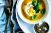 Neil Perry's carrot soup with coriander yoghurt. <a ...