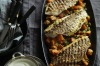 Neil Perry's grilled snapper fillets with spiced sweet potato salad and yoghurt. <a ...