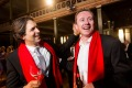 Chefs Ben Shewry from Attica (left) and Dan Hunter from Brae at the World's 50 Best Restaurants awards at the Royal ...