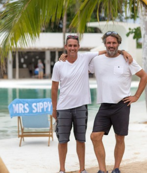 Andrew Stanway and Ben May at Mrs Sippy in Bali.