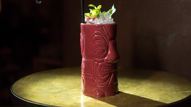 Tiki time: the bar's  Bearded Lady cocktail.