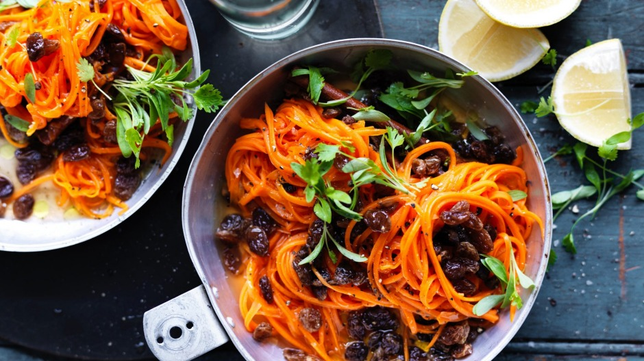 Neil Perry's carrot and sultana salad.