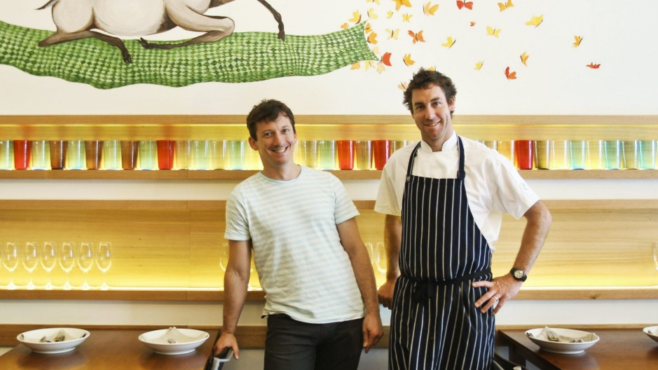 Simon Hall and Jarrod Hudson have sold their Collingwood restaurant Easy Tiger.