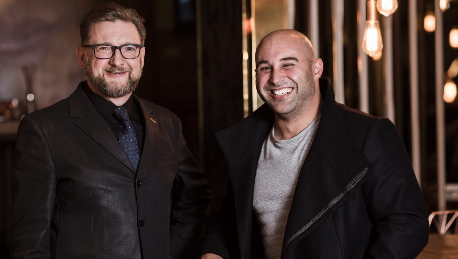 Adam Cash, the new front-of-house manager of Maha, with owner and chef Shane Delia.