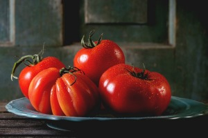 Lycopene gives red tomatoes their colour.