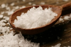 Crystal salt flakes are great with chocolate and caramel.