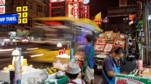Food stalls are an institution in Bangkok.