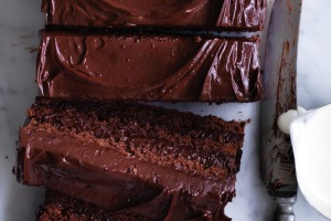 Neil Perry's almond and chocolate cake (with a dash of rum).