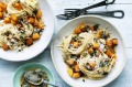 Spaghetti with pumpkin, thyme and brown butter.