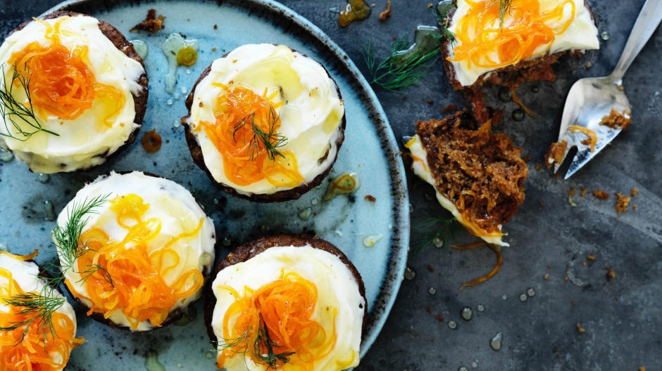 Adam Liaw's carrot cupcakes with dill.