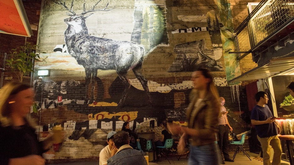 Melbourne's latest laneway bar features a majestic stag mural.