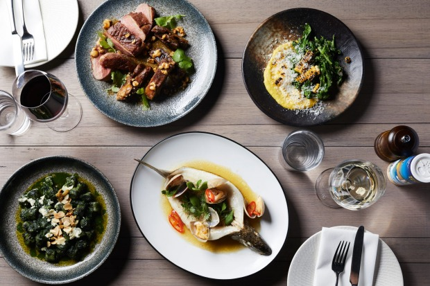 Assorted dishes from Osteria Ilaria in Melbourne.