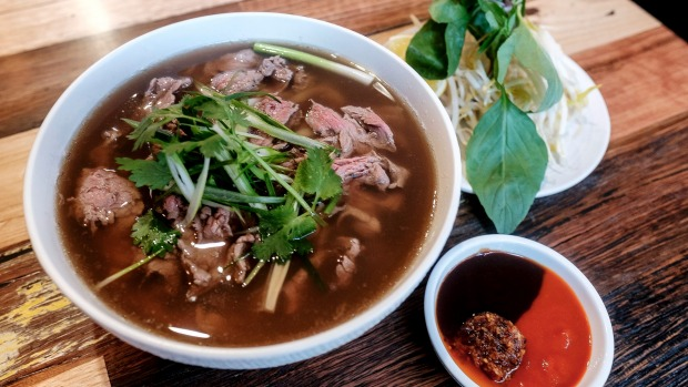 Paper Plate's beef pho.