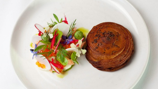 Barrett's signature caraway pastry served with trout salad.