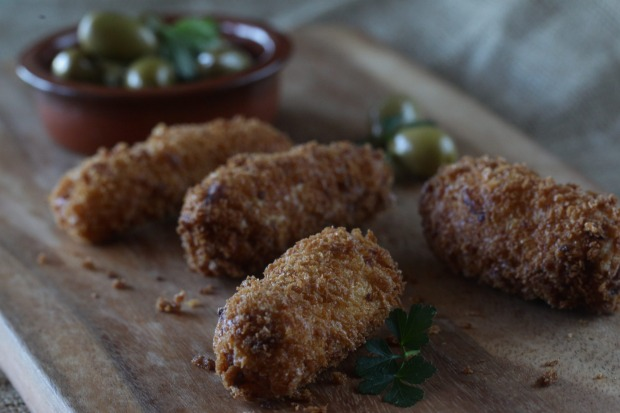 Jill Dupleix's chorizo and potato croquetas <a ...