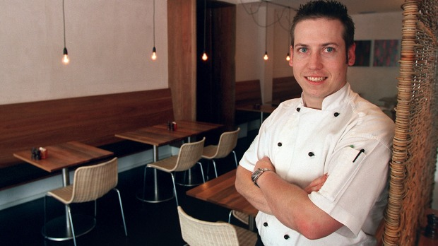 A baby-faced Daniel Wilson, joint winner of the Young Chef of the Year 2003.