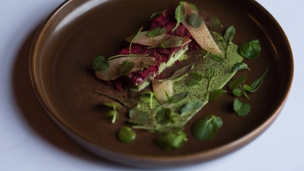 Smoked, spiced lamb backstrap is an autumnal tartare of sorts.