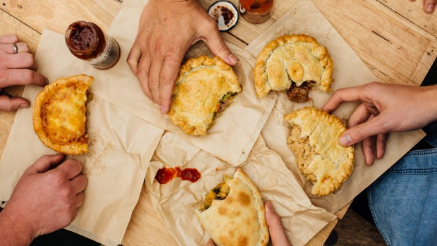 A selection of pies at The Pie Shop.
