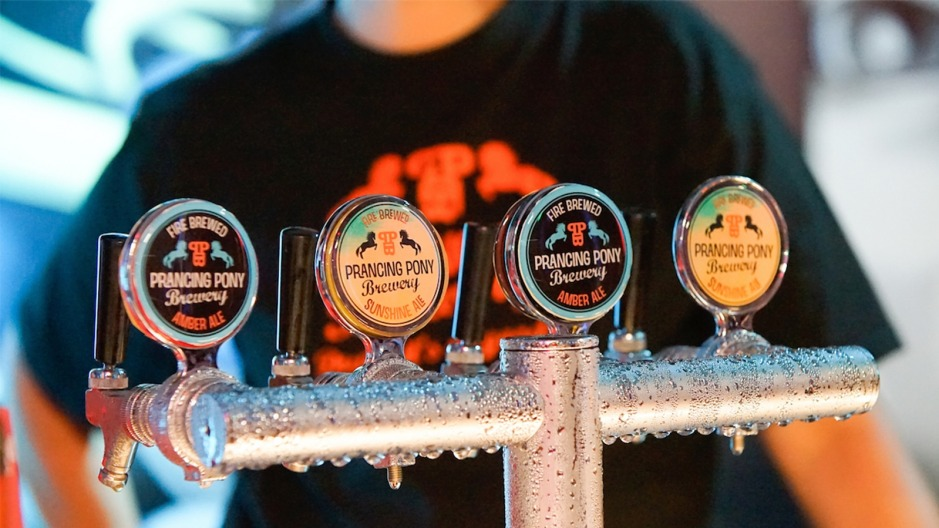 Ales on tap at the award-winning Prancing Pony Brewery.