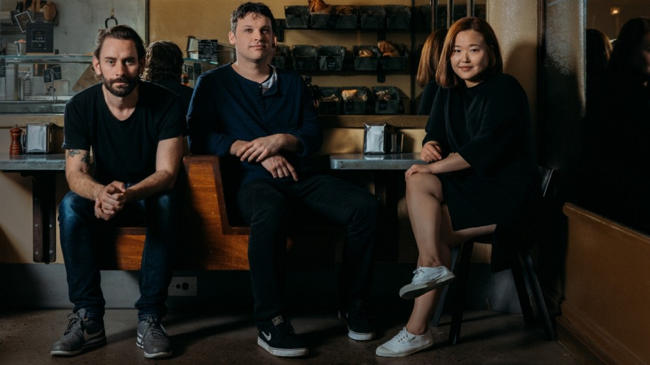 The Moon Park crew (from left), Ned Brooks, Ben Sears and Eun Hee An, are opening Paper Bird in Potts Point.