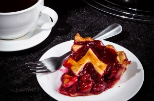 A cherry pie made in homage to its starring role in Twin Peaks.