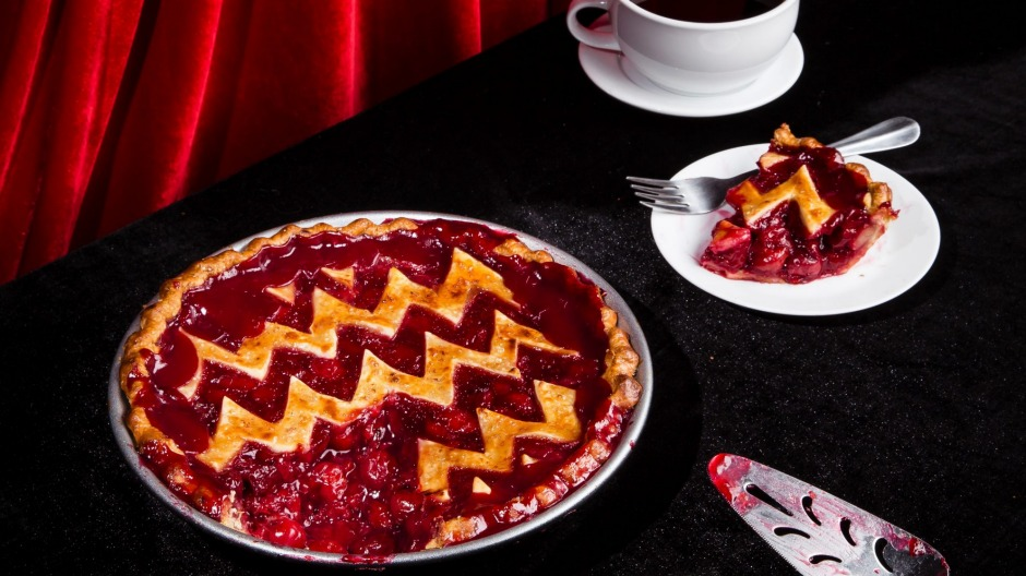 Divinely good: a cherry pie made in homage to its revered status in Twin Peaks.