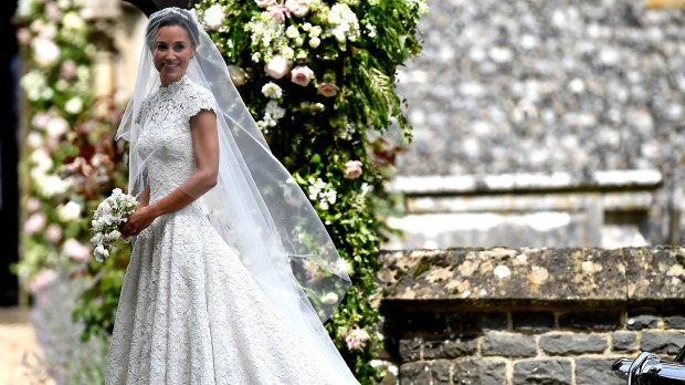 Pippa Middleton's beautiful custom gown.