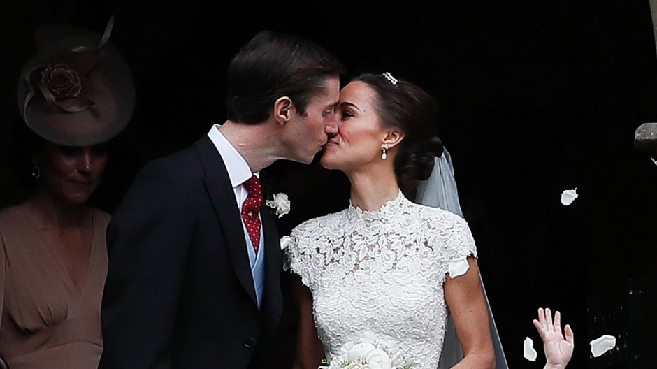 James Matthews and Pippa Middleton at their wedding.