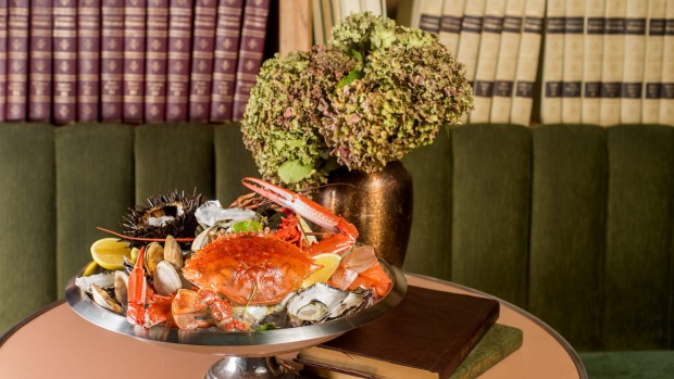 The opulent seafood platter at The Grounds of the City.