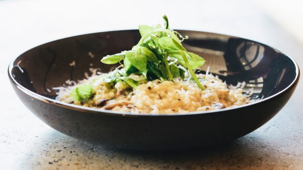 Mushroom risotto with porchini, parmesan and truffle oil.