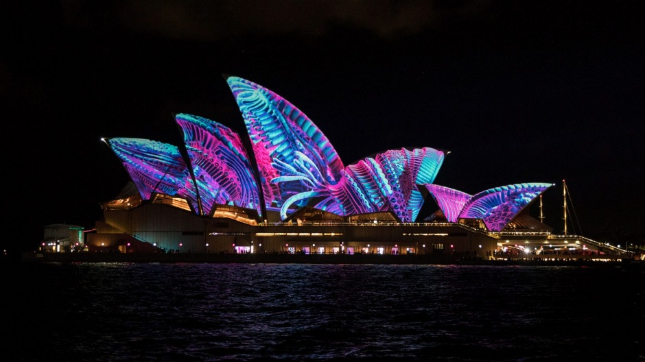 The show begins: The Sydney Opera House lights up for last year's Vivid festival.