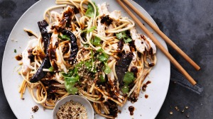 Chicken and Udon Noodle salad with Chilli and Sichuan Pepper.