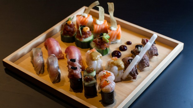 The deluxe sushi box at Kisume follows a more playful, less purist line.