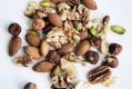 A half cup of mixed almonds, hazelnuts and walnuts daily was shown to make a difference.