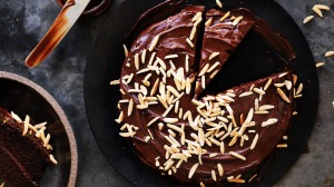 Simple Chocolate and Almond Cake.